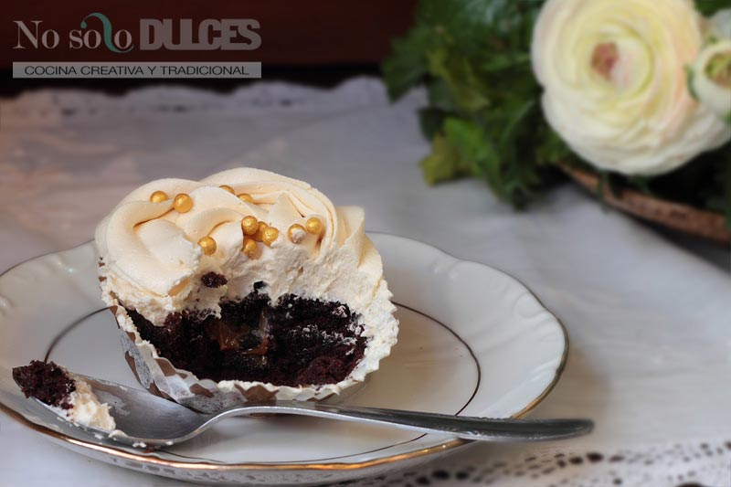 No solo dulces - Cupcakes chocolate dulce de leche y avellanas