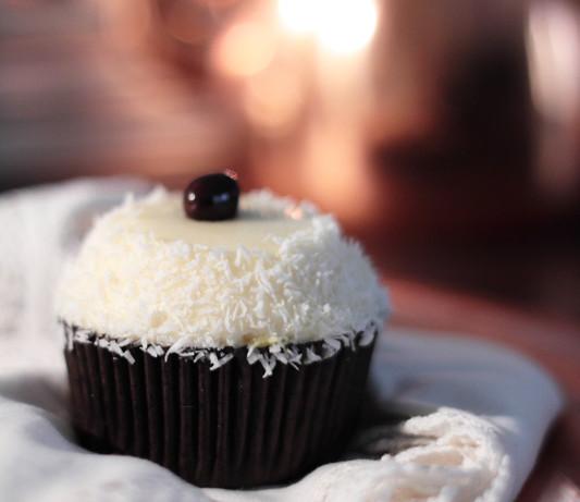 Cupcakes de coco y fruta de la pasión