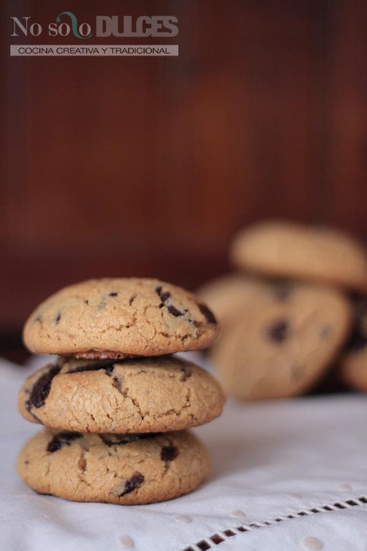 No solo dulces – Galletas de mantequilla de cacahuete y chocolate