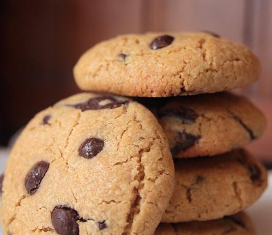 Galletas de crema de cacahuete y chocolate