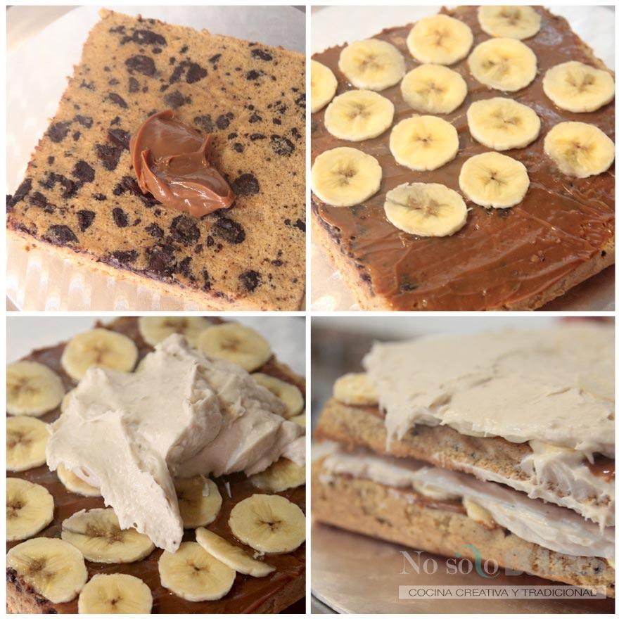 No solo dulces – Tarta de plátano y dulce de leche