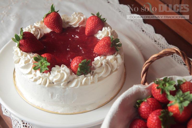 No solo dulces - tarta de queso y fresas