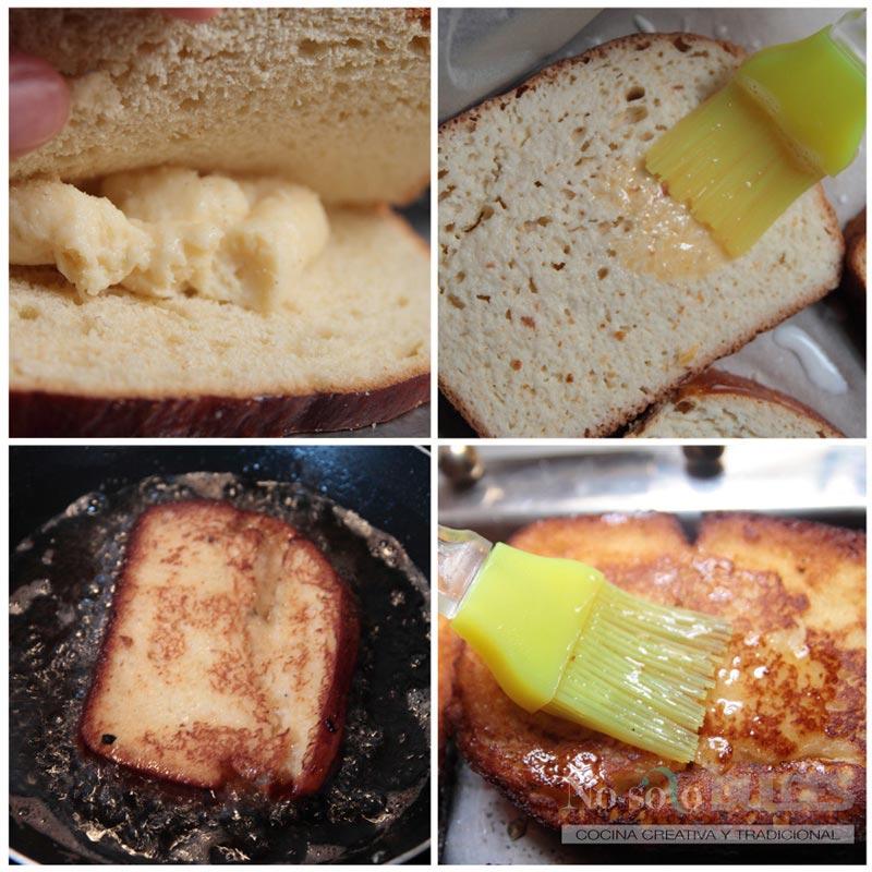 No solo dulces - Torrijas rellenas de crema paso a paso