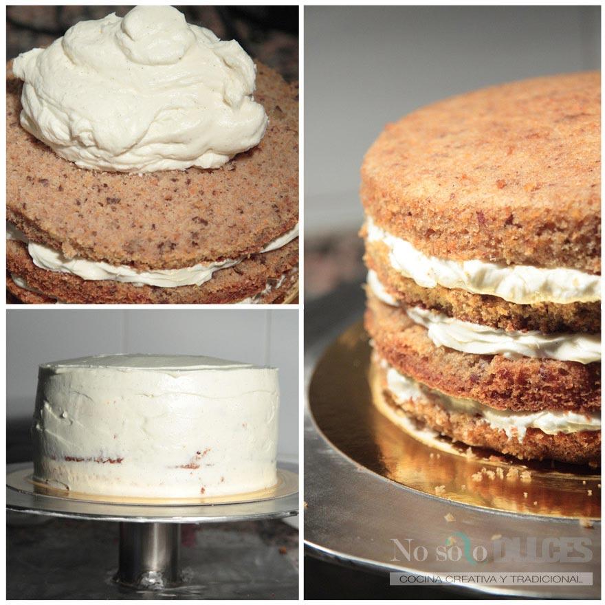 No solo dulces – Tarta de zanahoria – Carrot cake