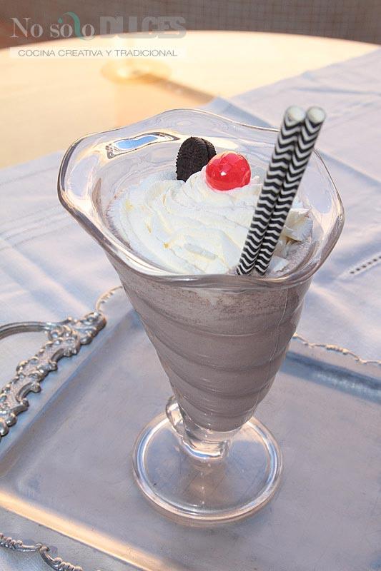 No solo dulces - Batido galletas oreo y helado de vainilla y cafe