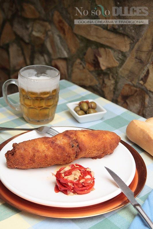 No solo dulces – Flamenquín ibérico cordobés jamón y pimiento