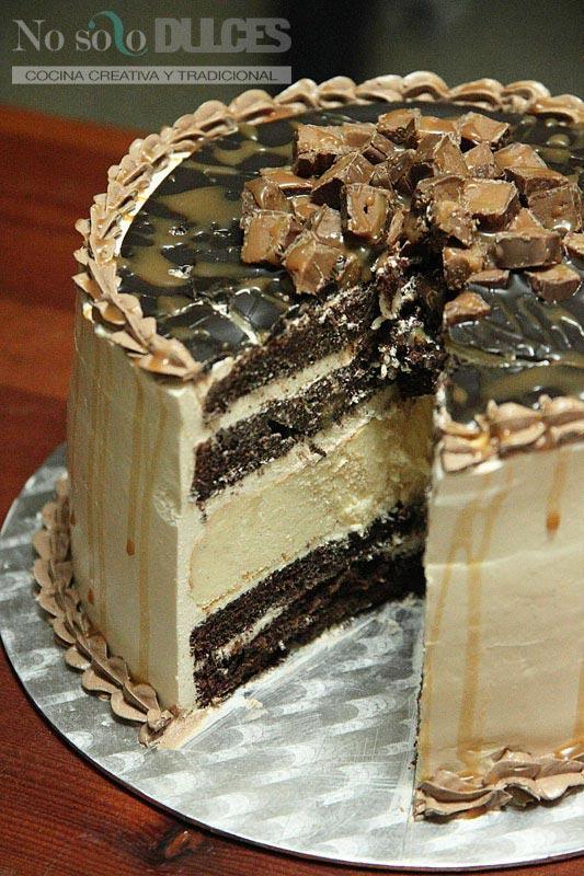 No solo dulces - Tarta de caramelo salado y chocolate