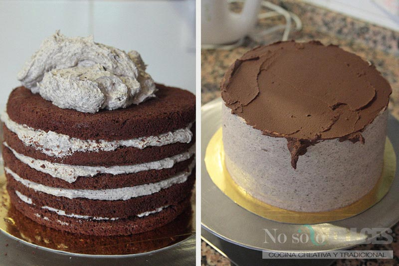 No solo dulces – Tarta de chocolate y galletas Oreo