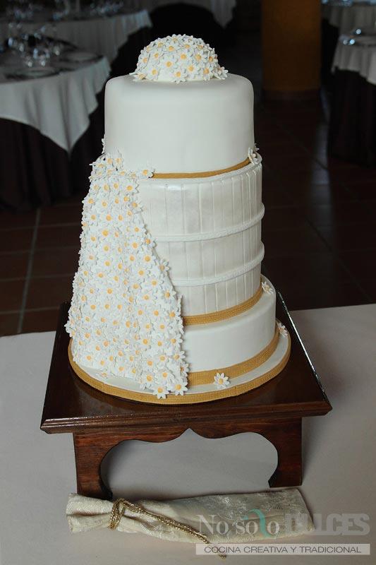 No solo dulces - Tarta boda margaritas