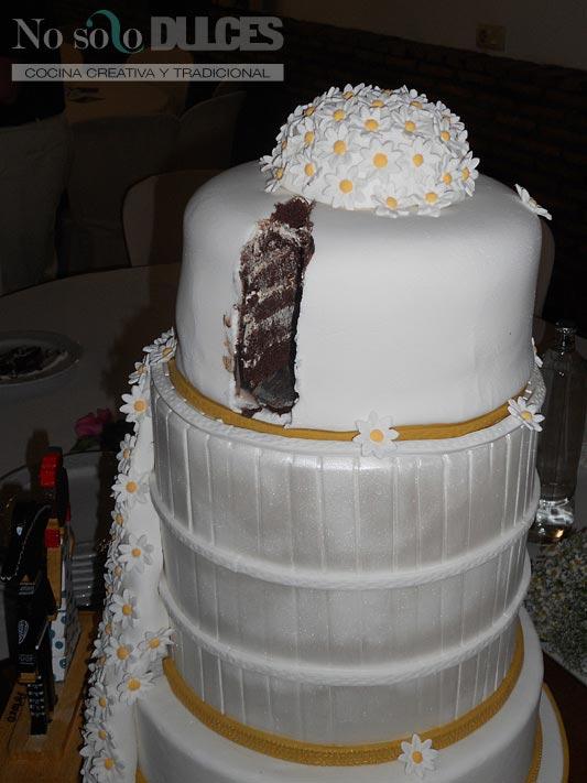 No solo dulces - Tarta boda margaritas paso a paso