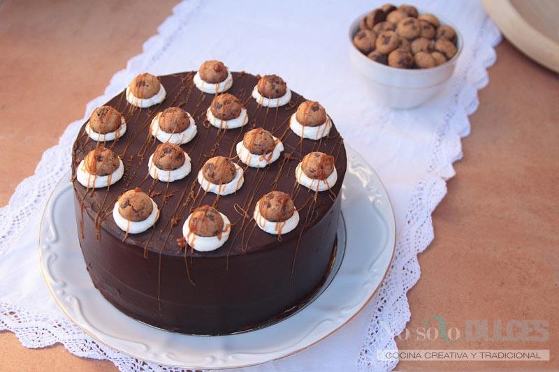 No solo dulces - Receta tarta cookies dulce de leche cream
