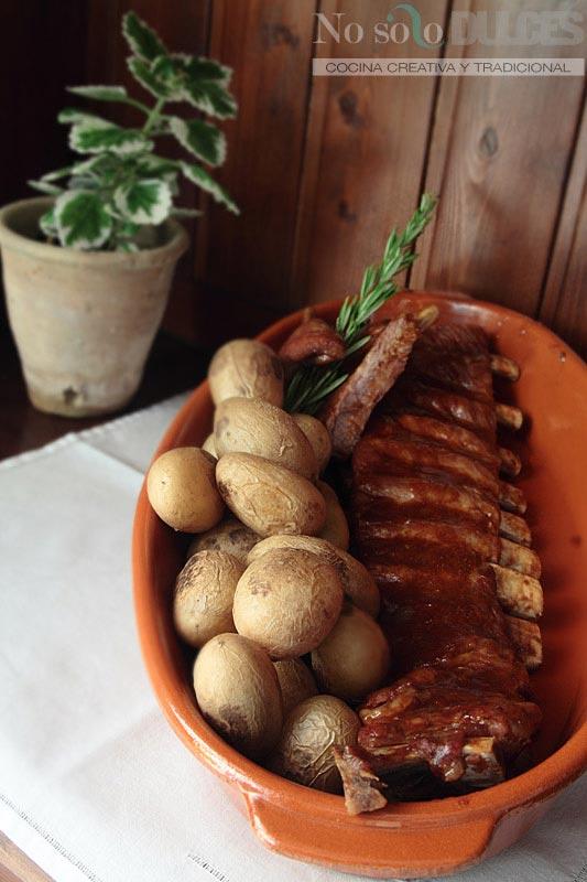 No solo dulces costillas cerdo barbacoa horno elaboración receta