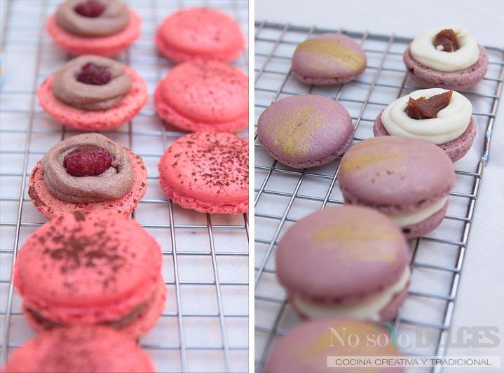 No solo dulces - Macarons perfectos chocolate frambuesa elaboracion