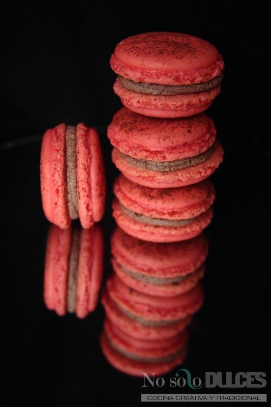 No solo dulces macarons perfectos chocolate leche frambuesas