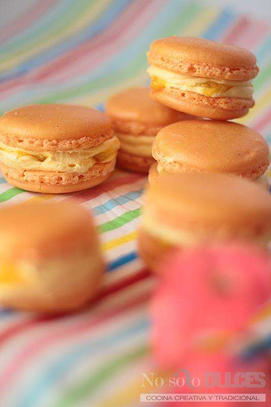No solo dulces – Macarons tropicales mango maracuyá fruta de la pasión