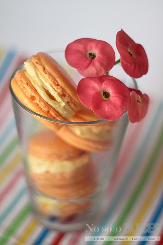 No solo dulces - Macarons tropicales mango maracuyá fruta de la pasión
