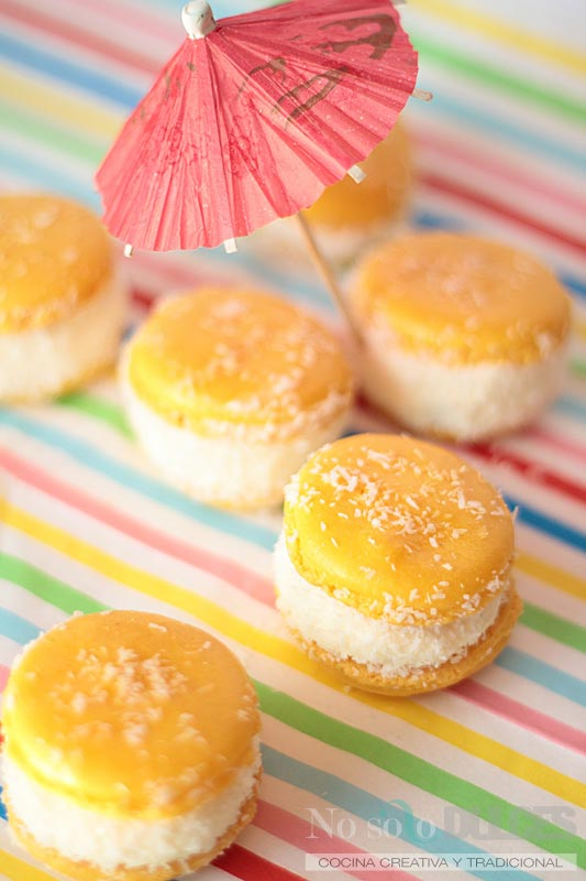 No solo dulces – Macarons tropicales piña colada