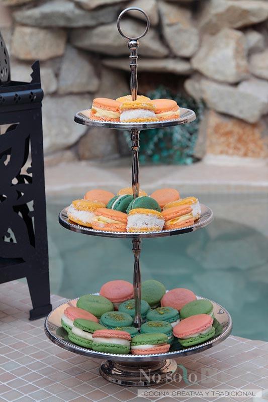 No solo dulces - Macarons tropicales mango maracuyá fruta de la pasión piña colada