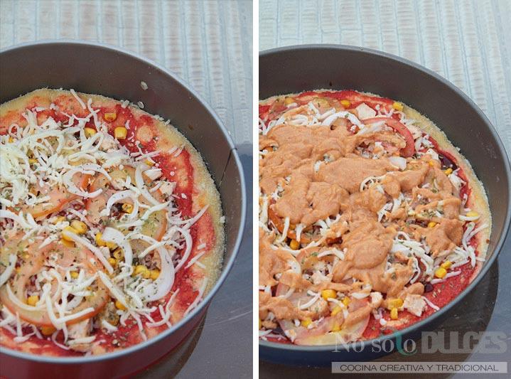 No solo dulces pizza barbacoa creme telepizza