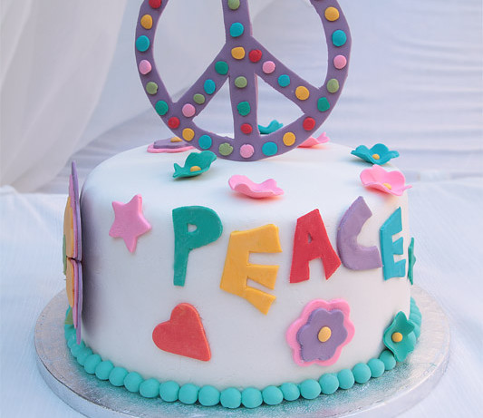 Peace and love: Tarta hippie para celebrar un gran premio (¡Soy bloguero cocinero de Canal cocina!)