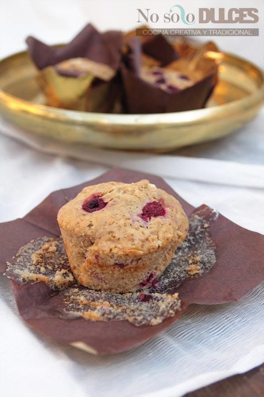 No solo dulces - Muffins de frambuesa y chocolate blanco