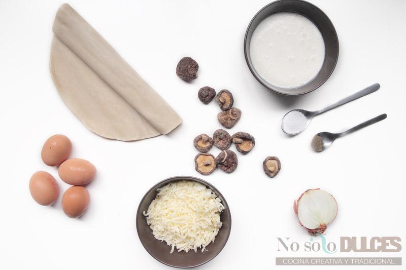 No solo dulces - Receta quiche setas shiitake