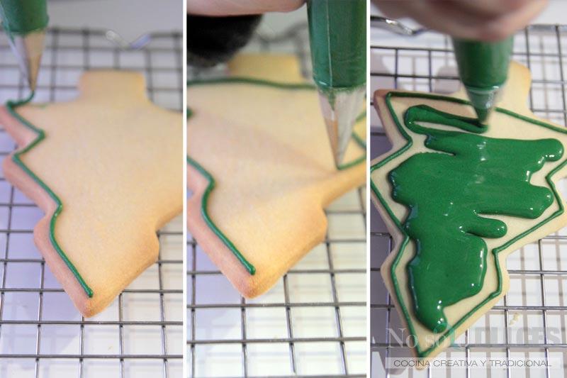 No solo dulces - Paso a paso relleno galletas navidad glasa real