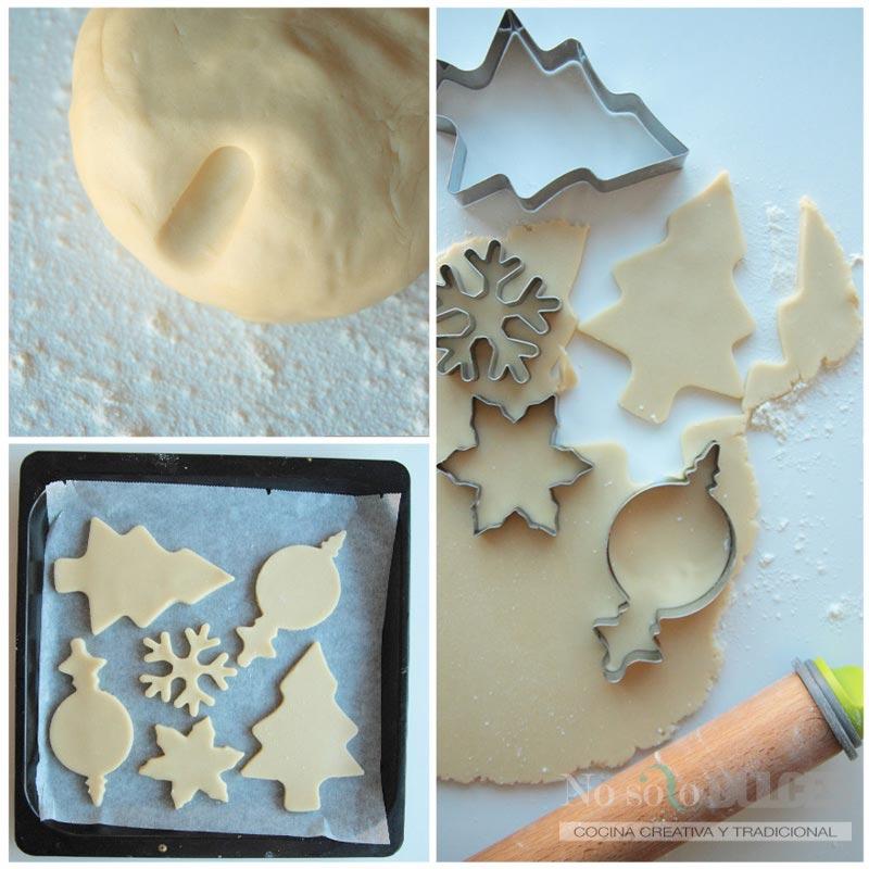 No solo dulces - Paso a paso masa galletas navidad