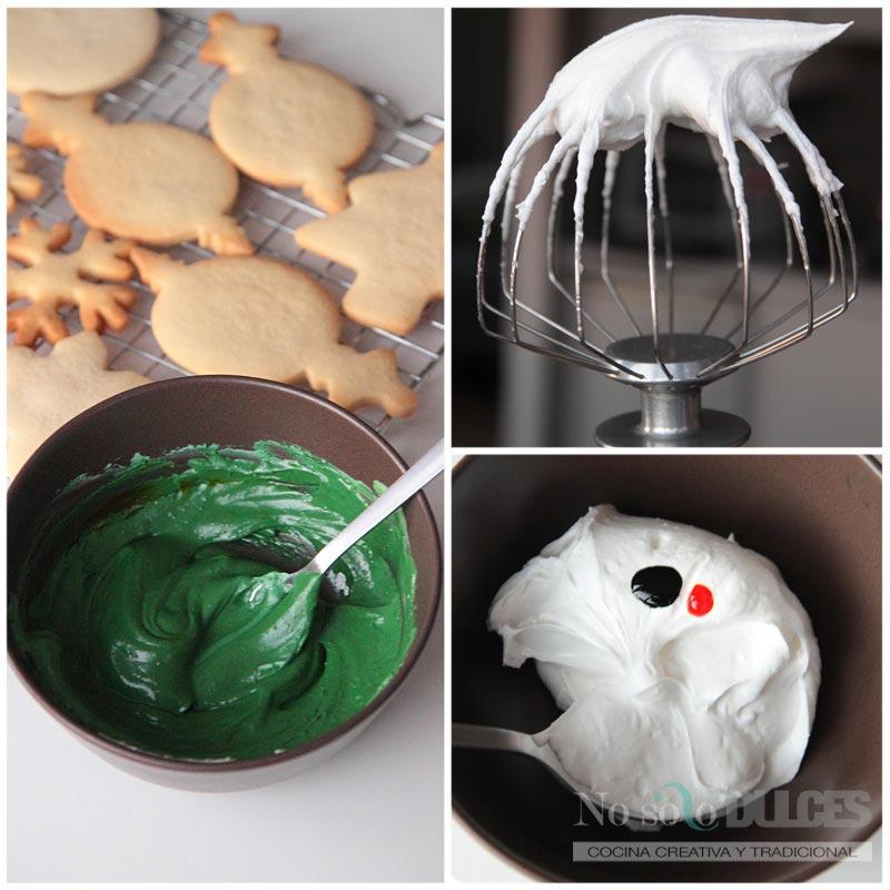 No solo dulces – Paso a paso relleno galletas navidad glasa real