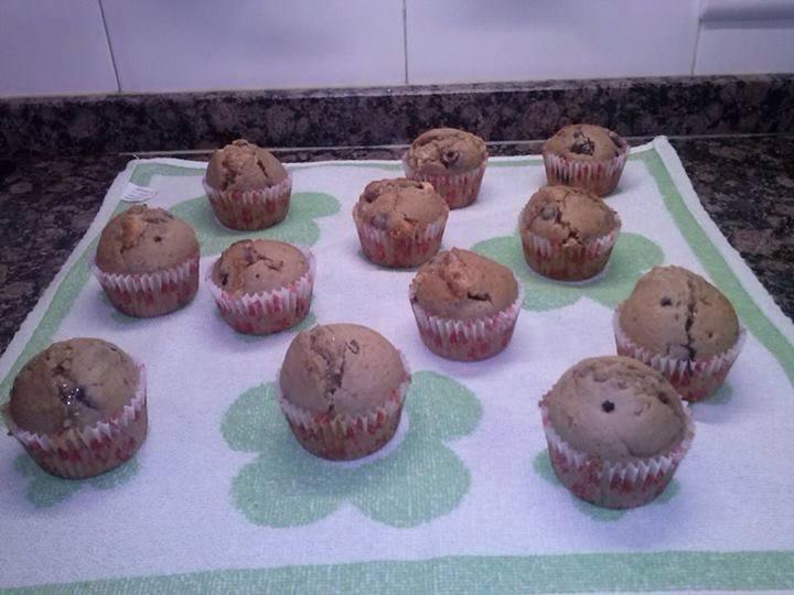 Muffins de frambuesa y chocolate blanco