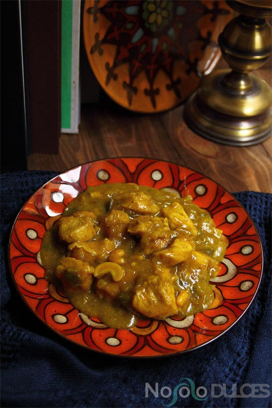 No solo dulces - pollo korma indio chicken korma