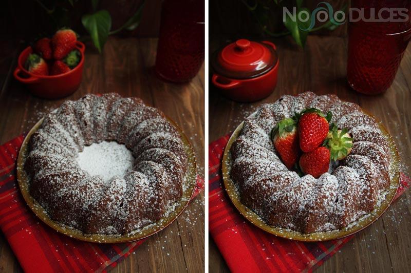 No solo dulces – Bundt cake de nata y chocolate