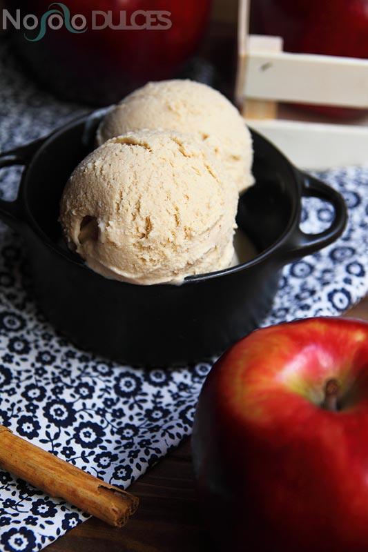 No solo dulces – Helado de manzana, canela y jengibre
