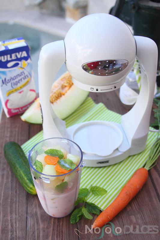 No solo dulces – Smoothie melón y pepino sin lactosa