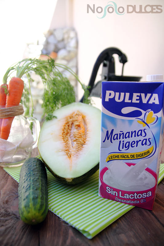 No solo dulces - Smoothie melón y pepino sin lactosa