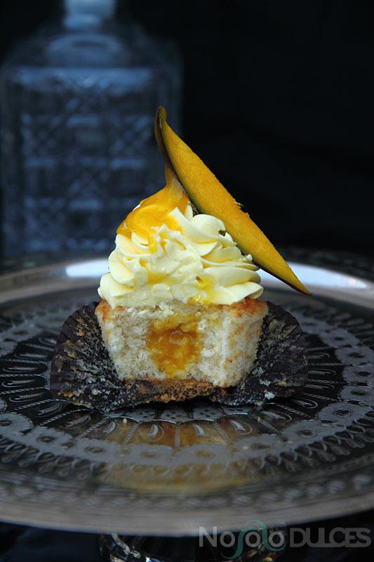 No solo dulces – Cupcakes de mango natural y vainilla