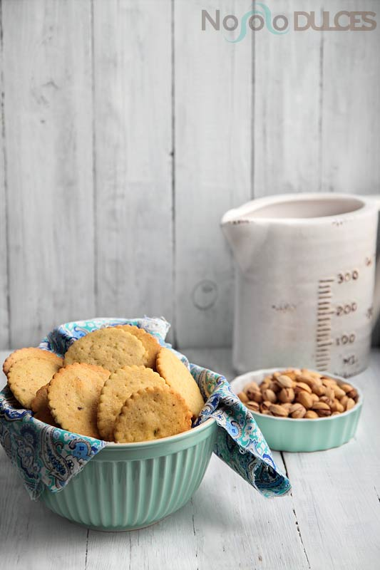 No solo dulces – Galletas de pistacho y chocolate sin huevo