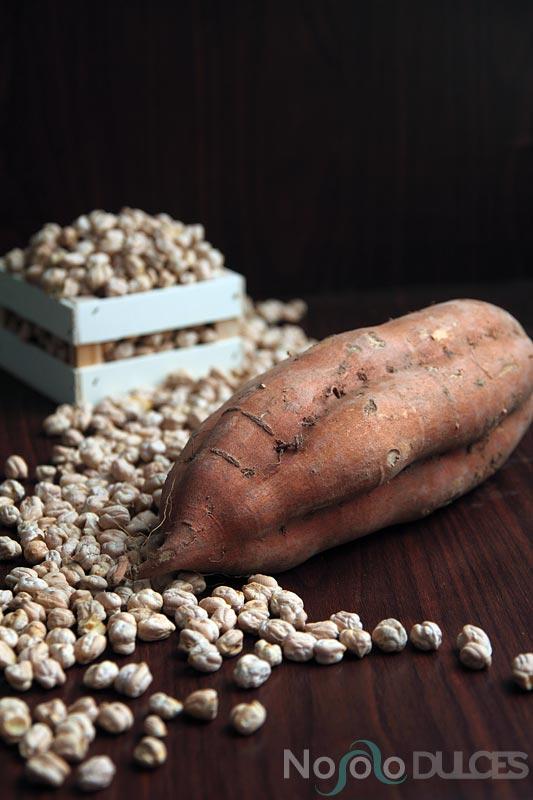 No solo dulces – Receta hummus tradicional y batata especiada
