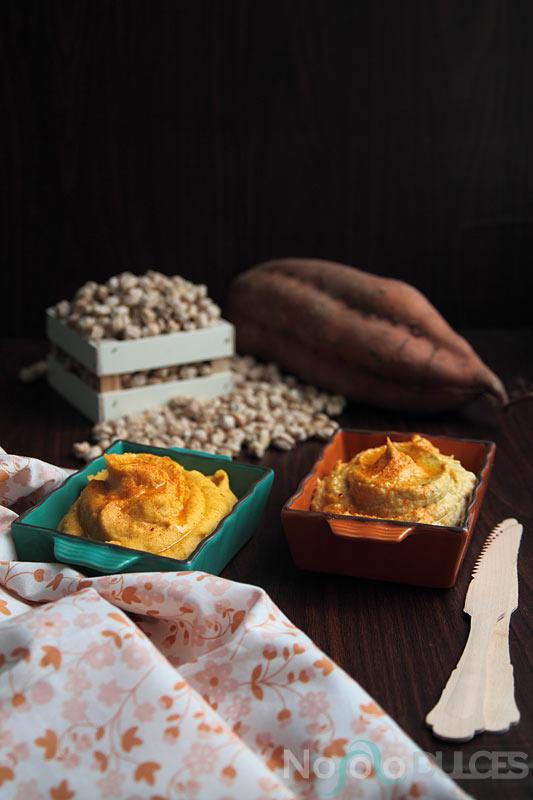 [Doble receta express] Hummus tradicional + Hummus de batata especiado