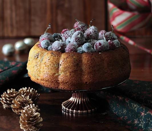 Bizcocho de frutos rojos escarchados sin leche – Receta de Navidad