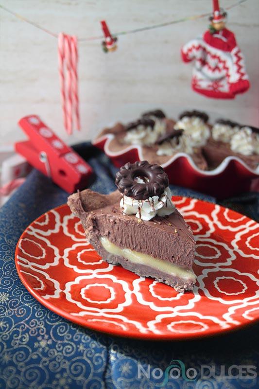 Tarta de chocolate, jengibre y limón para Navidad