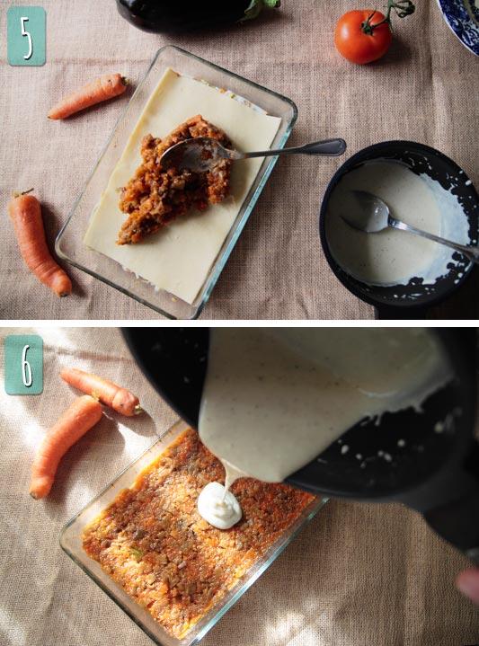 No solo dulces – Lasaña de verduras al horno Elaboración