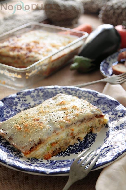 No solo dulces – Lasaña de verduras al horno con pasta fresca