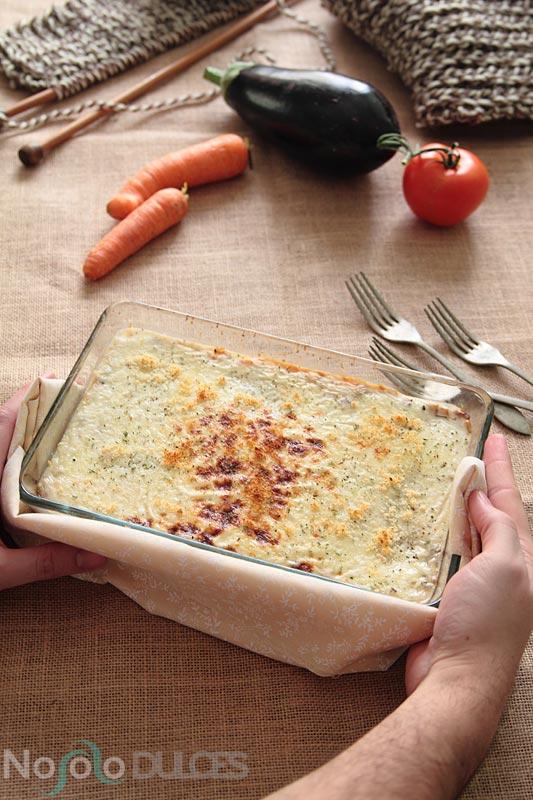 No solo dulces - Lasaña de verduras al horno con pasta fresca