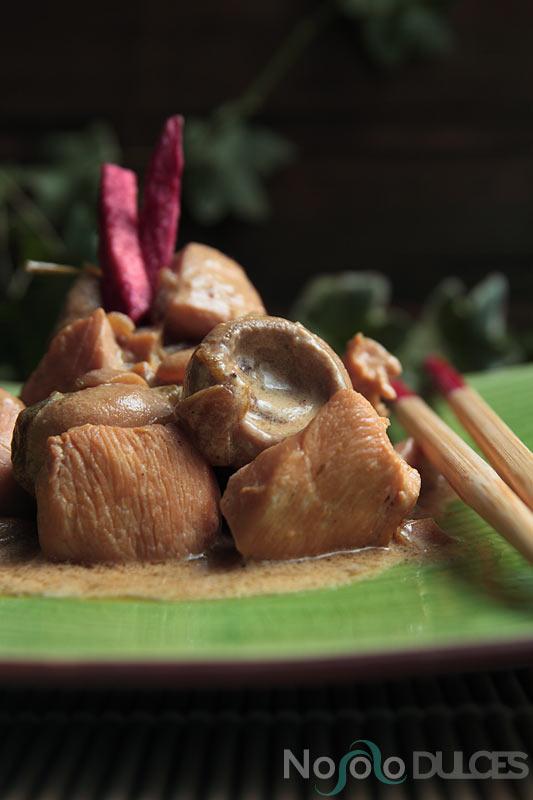 No solo dulces – Strogonoff pollo estilo asiatico