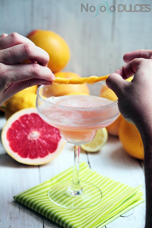 No solo dulces - Cockatil margarita de pomelo rosa