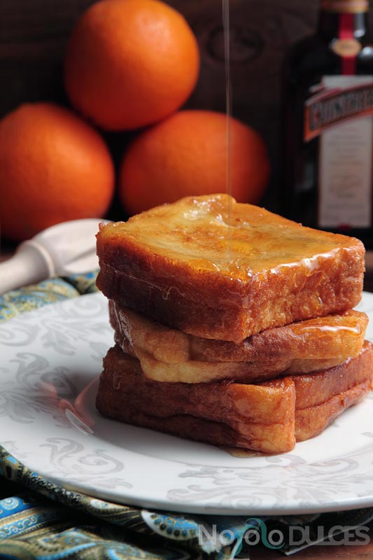 No solo dulces - Torrijas de cointreau rellenas con mermelada de naranja