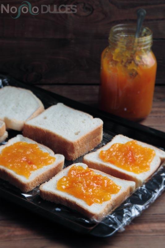 No solo dulces – Torrijas de cointreau rellenas con mermelada de