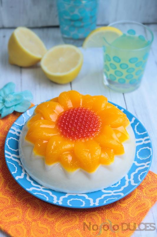 No solo dulces – Tarta de gelatina de piña colada