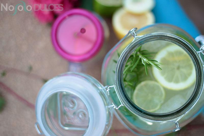 No solo dulces – Limonada de romero y té matcha